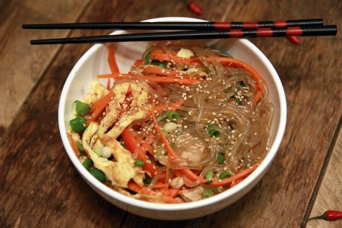 japchae korean stir fry