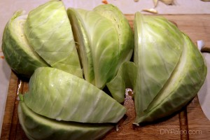 prepped cabbage