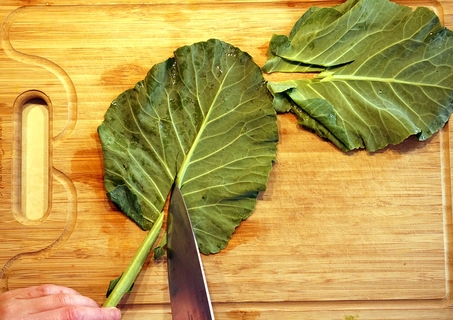 collard wraps step 2