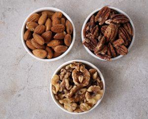 almonds pecans walnuts
