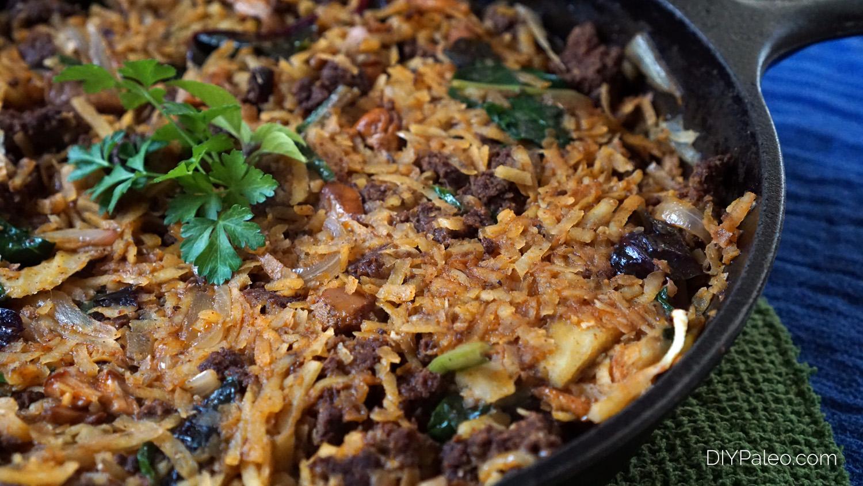 sweet potato and chorizo hash